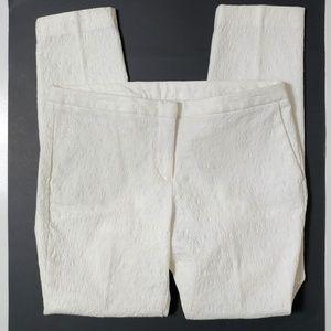 Lace textured slim pants size 8